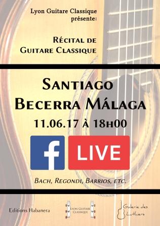 Affiche FB live - Santiago