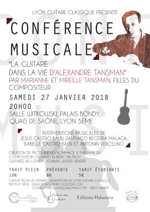 Conférence Musicale Tansman 27.01.18